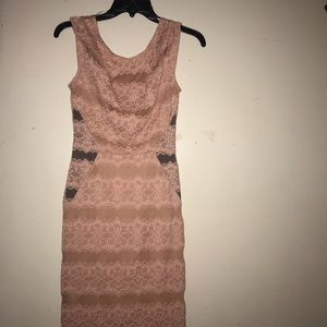 Dresses & Skirts - Pink lace mini dress